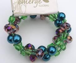 diy crystal bead bracelet images Emerge global bracelet green blue purple crystal beads emerge jpg