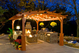 Pergola With Fire Pit by Create A Romantic Getaway With Our Hearthside Pergolas Best In