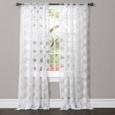 White Window Curtains Arlene Window Curtain