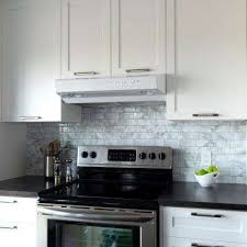 Gray And White Backsplash by Smart Tiles The Home Depot
