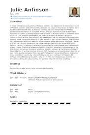 dental resume template pediatric dentist resume sles visualcv resume sles database