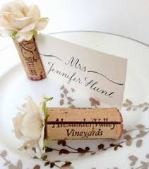 diy place cards wine cork wedding place card holders https www etsy listing