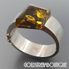 amber bangle bracelet images Amazing vintage sterling huge cognac baltic amber modern hinged jpg