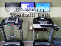 Diy Treadmill Desk Diy Walking Treadmill Desk And Shelves Installed Saving The
