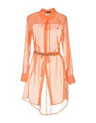 pinko skin shirt dress orange cotton dresses women pinko sale