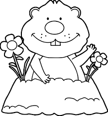 celebrate groundhog day with this coloring page of punxsutawney