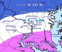 Washington Dc Area Map by A Foot Of Snow For Some U2026 Final Snow Map Posted Dcstorms Com