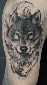 grey and black wolf idea