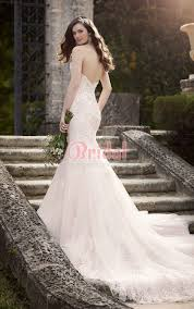 Chapel Train Wedding Dresses Low Open Back With Chapel Train Mermaid Lace And Tulle Sweetheart