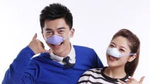 nose mask fight pollution with a goofy nose mask