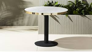 Outdoor Bistro Table Bistro Marble Outdoor Table In Dining Tables Reviews Cb2