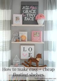 Build Floating Shelves by Diy Floating Shelves In The Nursery