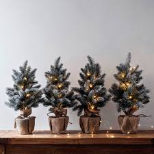 aspen pre lit mini frosted artificial tree by lights4fun