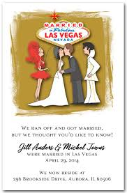 elopement announcements married in las vegas with elvis announcement