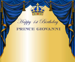 prince themed baby shower printable royal blue and gold prince themed crown tiara
