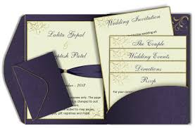 wedding invitations inserts purple gold pocket fold email wedding invitation template