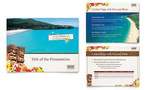 island brochure template hawaii travel vacation powerpoint presentation template design