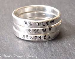 name rings silver images Stackable name rings etsy jpg