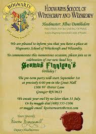 harry potter birthday invitations printable free images