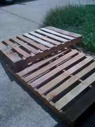 Bed Frame Made From Pallets Remodel This House Diy Pallet Bed Frame