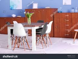 white livingroom furniture modern living room furniture set table stock photo 415923043