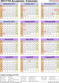 academic calendars 2017 2018 as free printable word templates
