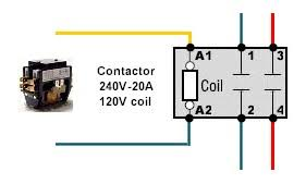 beautiful lighting contactor schematic photos throughout 2 pole
