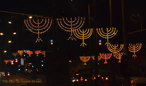 hanukkah lights decorations lights chanukah candles the real jerusalem streets