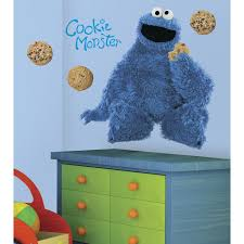 roommates rmk1483gm sesame street cookie monster giant peel roommates rmk1483gm sesame street cookie monster giant peel stick wall decal childrens wall decor amazon com