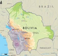 South America Map With Capitals by Country Of Bolivia Capital Sucre Location Central South