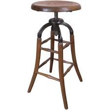 Drafting Table Stools Vintage Industrial Wood U0026 Cast Iron Adjustable Drafting Stool
