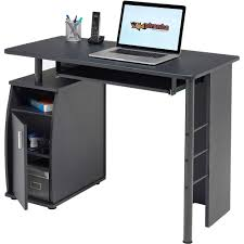 Pc Table Compact Computer Table W Storage Cabinet Piranha Furniture