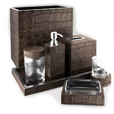 bathroom sets luxury designer chocolate crocodile leather bath
