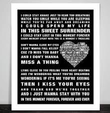aerosmith wedding song aerosmith song lyrics dont want miss a thing word poster