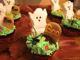 the chicken halloween graveyard cupcakes