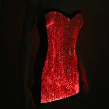 fiber optic light up clubwear dresses for women