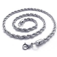 2015 men s jewelry 8mm 60cm new arrival power necklaces men s 3mm silver stainless steel necklace rope chain 23 inch