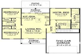 3 bed 2 bath house plans southern ranch home 3 bedrooms 1300 sq ft house plan 142 1046