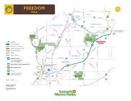 Springfield Ohio Map by Freedom Trail Biking U0026 Cross Country Skiing Paths