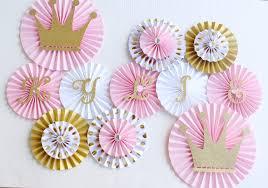 paper fans decorations princess party decorations princess baby shower princess