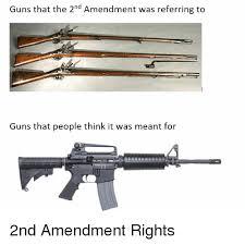 2nd Amendment Meme - guns that the 2nd amendment was referring to guns that people