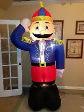 Inflatable Nutcracker Christmas Decorations by Holiday Living 16 01 Ft X 3 51 Ft Lighted Nutcracker Christmas
