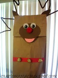 kids craft rudolph paper bag puppet s craft o maniac