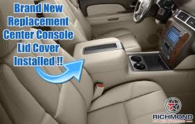 gmc sierra steering wheel light replacement 2007 2014 gmc sierra slt sle center console lid cover tan