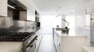 Large Galley Kitchen Kitchen White Galley Kitchen With Island Flatware Microwaves The