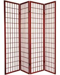 Japanese Screen Room Divider Sale 4 Panel Japanese Shoji Screen Room Divider Cherry Wood
