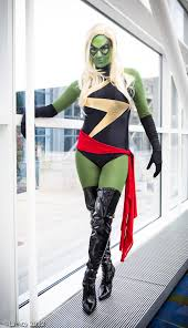 Marvel Halloween Costume Ms Marvel Carol Danvers Shiny Halloween Costumes Cosercosplay