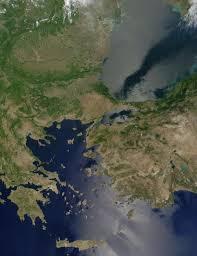 Aegean Sea Map Nasa Visible Earth Aegean Sea And Black Sea