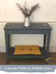 Shabby Chic Console Table Pebble Grey Shabby Chic Furniture Paint The Liquid Chalk Specialists