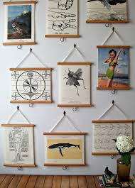 mini pull down map vintage style wall hanging poster print on